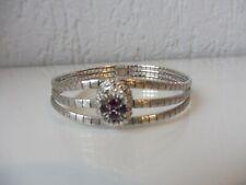 Schönes , altes  Armband  , 800 Silber mit geschliffenen Rubinen  !