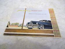Vintage Original Golden Anniversary Packard Eight Sales Brochure