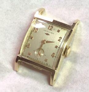 Vintage 1950s Hamilton Stafford 14K Solid Gold Watch 770 22J USA Runs