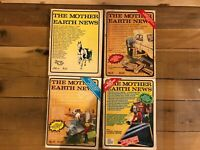 Lot of 4 The Mother Earth News vintage magazines - Issues 6, 41, 45, & 55