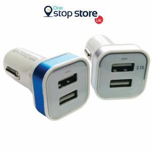 2 Port Phone Car Charger USB Dual Bullet Socket For Samsung Galaxy A1 A3 A5 A7
