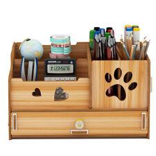 Pen Holder Office Multifunctional Sundry Box Desktop Decoration Wooden Desktop