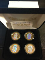 2009 USA MINT HOLOGRAM PRESIDENTIAL $1 DOLLAR 4 COIN SET Gift Box Certified