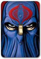 G I Joe Cobra commander Metal Switch plate Wall Cover Lighting Fixture SP724