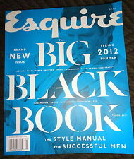 Esquire Big Black Book 2012 Michael Nyqvist, Arnold Palmer, Phil Poynter Vogue