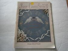 Vtg June 1988 Just Cross Stitch Pattern Magazine Love Birds Marriage Sampler