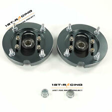 Pair Steel & Aluminum Adjustable Coilover Camber Plates Kit 05-14 Ford Mustang