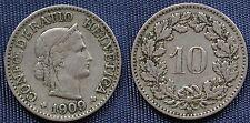 MONETA COIN MONNAIE HELVETIA SUISSE SWITZERLAND SVIZZERA - 10 RAPPEN 1909 -