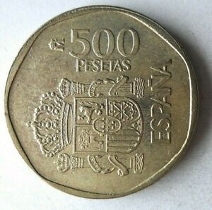 1989 SPAIN 500 PESETAS - High Value Coin - Hard to Find - Lot #L20