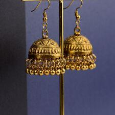 Vintage Bohemian Gold Plated jhumka Handmade Dangle  Bollywood Indian Earrings