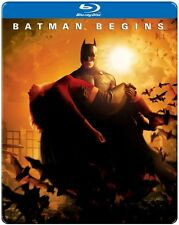 Batman Begins (2013, REGION A Blu-ray New) BLU-RAY/WS/Steelbook