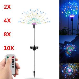 4/8X Led Solar Starburst Firework Lamp Garden Plant Path XMAS Fairy String Light