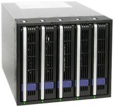 Cremax ICY DOCK, MB455SPF-B 5 Hot Swap SATA 2 HDD in 3 X 5.25 Drive Bay Aluminum