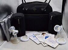 Philips Avent Twin Electronic Breast Pump BPA Free W/ Microfiber Travel Bag EUC