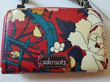 Sakroots Smartphone Crossbody Artist Circle Wristlet Floral Wallet Purple New