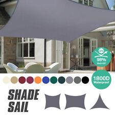 Sun Shade Sail Garden Patio Sunscreen Awning Canopy Shade 98% UV Block Waterproo
