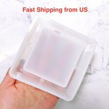 New Shiny Heart Square Round Flower Ashtray Silicone Mold - 6 Styles - Resin