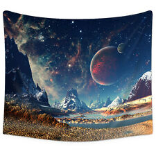 Psychedelic Galaxy Planet Tapestry Wall Hanging Space Star Tapestry Home Decor