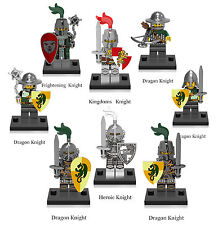 Medieval knights Kingdoms Knight Dragon Knight 8 Minifigures Building Toys lEGO