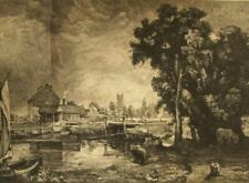 Charles Wilson after Constable original etching w/issues; Dedham, Suffolk 1800's