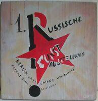 MOSTRA ARTE RUSSA BERLINO 1922 Tavola legno Avanguardia Russa Russian avantgarde