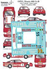 Transkit 1/24 OPEL MANTA 400 Gr.B YPRES/CONDROZ 1984 Renaissance TK24/445