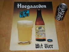 BELGIAN- HOEGAARDEN WITBIER BEER, ADVERTISING PLASTIC WALL SIGN, OFFICIAL LIC.