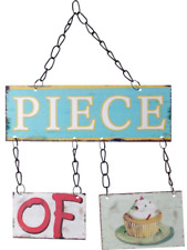 Piece of Cake Chic N Shabby Jointed Metal Retro Kitchen Wall Sign Cupcake