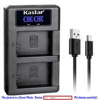 Kastar LCD Dual Charger Battery for Canon LP-E6 LP-E6N LC-E6E & Canon EOS 60Da
