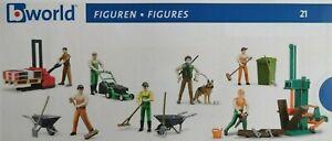 Bruder Bworld Figuren Bauarbeiter Polizei Forst Logistik Abfall Männer Frauen