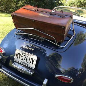 VTG CLEAN K. KAUFMANN LEATHER SUITCASE PORSCHE 356 MG MIDGET RACK CASE R$6295
