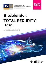 Bitdefender TOTAL SECURITY 2019/20, 5 Multi-Devices 1 Year NEW DOWNLOAD VERSION