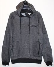Buffalo David Bitton Mens Black Heather Hoodie Sweat Jacket NWT $89 Size XXL 2XL