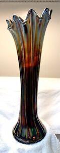 Westmoreland Carnival Glass Amythest Vase