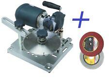 120V Electric Circular Saw Blade Sharpener Tilt Motor + Diamond & Emery Wheels