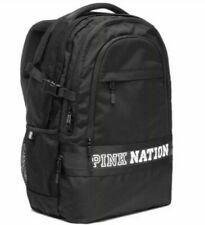 NWT Victorias Secret PINK NATION Logo Collegiate Backpack OneSize Black