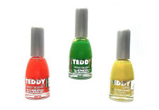 tris 3 SMALTI COLORATI FLUO' DECORAZIONI UNGHIE NAIL POLISH TEDDY stock