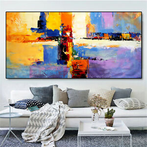 YA178 Home decor Canvas 100% Hand-painted oil painting abstract color art
