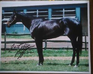 Ruffian photograph Signed Jacinto Vasquez autograph