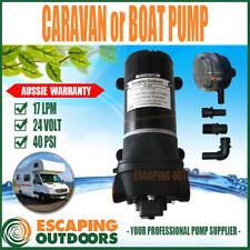 24 Volt Diaphragm Water Pressure Pump 17 L/min 40psi Caravan Boat Solar Fl44