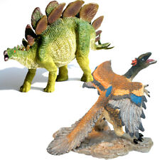 Stegosaurus + Archaeopteryx Kids Toys Figures Realistic Dinosaurs Models Gift