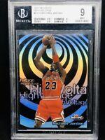 1997-98 NBA Hoops High Voltage #HV14 MICHAEL JORDAN, BGS 9 Mint, Rare Insert PSA