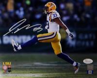 Jamal Adams Autographed LSU 8x10 PF Photo Jumping- JSA W Auth *Silver