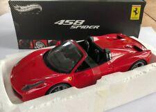 1/18 Ferrari 458 Spider Hotwheels Mattel Elite Boxed MINT