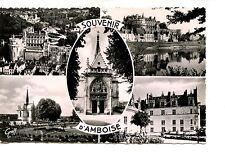 Multi-view Buildings-d'Amboise-France-RPPC-Souvenir Real Photo Vintage Postcard