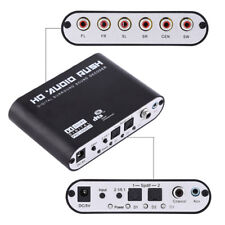 Digital DTS AC3 Optical to Analog 5.1CH Audio Sound Decoder SPDIF Coaxial 6RCA