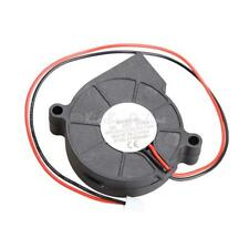 Black Brushless DC Cooling Blower Fan Ultra Quiet 2 Wire 5015S 12V 0.06A 50x15mm