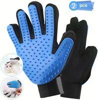 Heglow [Upgrade Version] Pet Grooming Glove - Gentle Deshedding Brush Glove