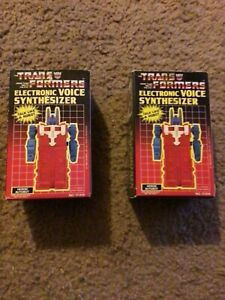 2 Vintage transformers electronic voice synthesizer NO.00035 MIB NEVER USED