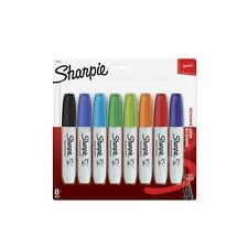 Sharpie Permanent Marker Broad Pack of 8 Colors Chisel Tip
